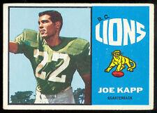 1964 TOPPS CFL FOOTBALL #3 JOE KAPP EX CALGARY STAMPEDERS B C LIONS VIKINGS