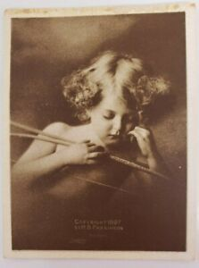 Set 3 Taber Prang Vintage Cards: Cupid Awake, Cupid Asleep and Madonna