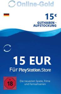 15€ PSN Card Playstation Network Guthaben Code - 15 EURO PS3 PS4 PS Vita - DE