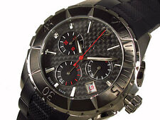 GC GUESS COLLECTION BLACK RUBBER+SILVER,CARBON FIBER CHRONO SWISS WATCH 30008M1