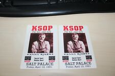 Kenny Rogers - 2 x Backstage Pass - Salt Palace 1991  -  Free Postage -