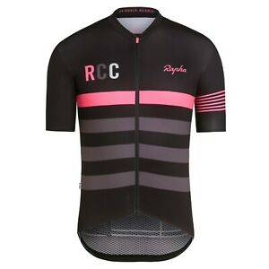 Rapha RCC Men's Cycling XXL Pro Team Midweight Jersey Short Sleeve Black Pink