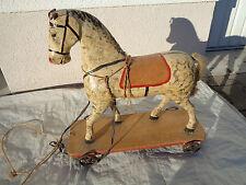 Altes großes Pferd Holz Eisenräder