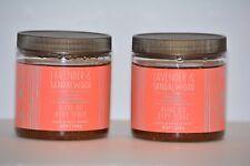 2 Bath & Body Works Essential Oils Lavender Sandalwood Olive Oil Body Scrub 8oz