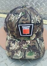 AGCO WHITE OLIVER TRACTORS CAMO MESH TRUCKER HAT CAP TWILL NEW PATCH VERY NICE!