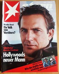 Kevin Costner 1992 Stern 4 Zeitschrift Hollywoods neuer Mann Schauspieler JFK