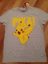 POKEMON PIKA OFFICIAL NINTENDO GAME GREY T-SHIRT MENS LADIES PRIMARK SIZE M