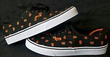 Vans x MLB San Francisco Giants Men Authentic black orange Skate Shoes Size 9