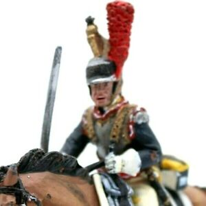 Mounted Toy soldier in Uniform with Artillery French Chasseurs 1809 Hand-Painted