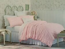 Simply Shabby Chic Ruched Pink Duvet Cover Only ~ KING ~ Smocked