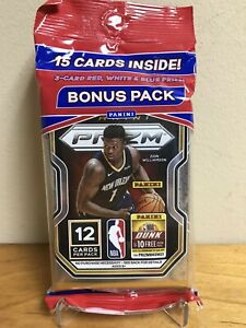 2020-21 PANINI PRIZM NBA BASKETBALL CELLO/FAT PACK LAMELO EDWARDS RC ZION 15 RED