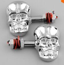 Set 2 Pezzi Coppia Frecce Led Skull Cromate Suzuki Honda Kawasaki Yamaha Harley