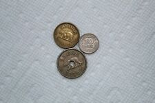 Greenland Coins, 3 total, 10 Ore 1922, 25 Ore 1926 (with hole), 50 Ore 1926