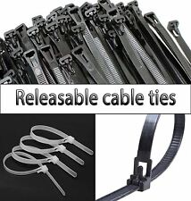 Nylon Realeasable Plastic Cable Ties Extra Large Zip ties Black White Green wrap