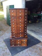1903 American Bolt & Screw Co rotating octagon hardware store cabinet 98 drawers