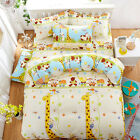 Single Queen King Size Bed Set Pillowcase Quilt Duvet Cover OAUr Cute Giraffe Ki
