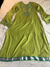 Green Embroidered Cotton Kurti New Lower Price