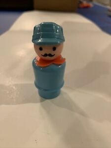Toy Little People Vintage Fisher Price Train Engineer Conductor Man