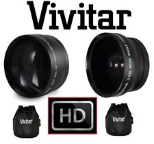 (2PC LENS KIT) PRO HD WIDE ANGLE & 2.2x TELEPHOTO LENS SET FOR SONY HDR-PJ760