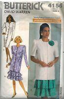 4156 Vintage Butterick Sewing Pattern Misses Dress Tunic Skirt David Warren 18