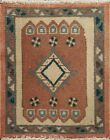 Vintage Geometric Traditional Oriental Area Rug Wool Hand-knotted Square 2x2 ft