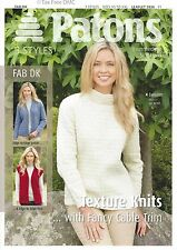 VAT Free Knitting PATTERN ONLY Patons Ladies Texture Knits Jacket Vest 3936 New
