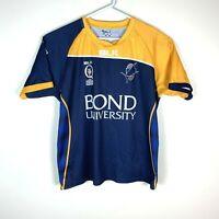 Bond University Bull Sharks QLD Rugby Union Rare BLK Shirt Size Men's 2XL XXL