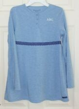 American Girl Sz L 14/16 Blue Knit Swing Top with Logo/Lace