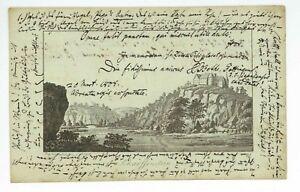 GÖTTINGEN 1808 Einzelblatt Album Amicorum Burg Schaffenstein Winterhold