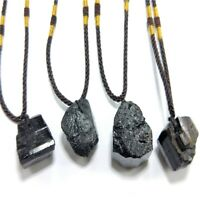 Natural Black Protection Pendant Crystals Gem Energy Necklace Tourmaline Healing