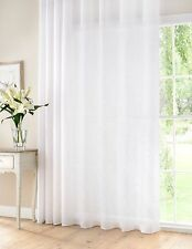 Extra WIDE Soft WHITE LINEN Rich Curtain Voile Panel  Many drops inc Ex LONG