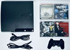 Sony PS3 120 GB Slim Console Bundle 4 Games + 1 Controller PlayStation 3