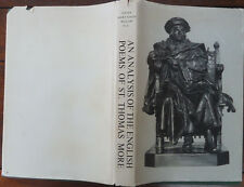 Analysis of the English Poems of St. Thomas More by Sister Mary Edith Willow
