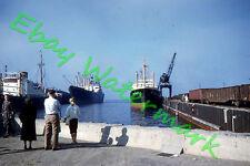 Billetal Hamburg Cargo Ship Loading at Port of Milwaukee 1959 Kodak 35mm Slide
