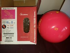 New 900 Global Badger Pink Fury Bowling Ball | 1st 16#0oz Top 2.65oz Pin 3.5-4""
