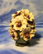 "Ret. England Harmony Kingdom ""Rhododendron"" White Flower Box Figurine Hgrh Euc"