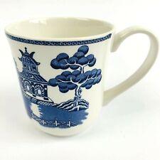 BLUE WILLOW Johnson Brothers COFFEE MUG Border Earthenware England LARGE SIZE