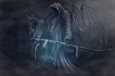 Framed Print - Grim Reaper The Harbinger of Death (Gothic Horror Picture Poster)