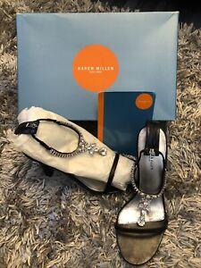 Karen Millen Black Sandals Size 4/37