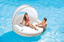 Intex Floating Canopy Island Lounge detachable Shade Inflatable Pool Lake Float