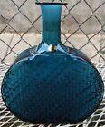 Finland Riihimaen Lasi Blue Glass Bottle Decanter Vase Decorative Beauty