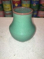 Vintage POOLE CHINESE GREEN glaze Vase Shape 112 ca 1950s-70s - perfect!