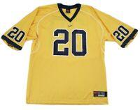 Nike Team University of Michigan Football Jersey Sz Large Blue Yellow #20