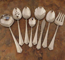 Oneida Juilliard Cube 8 Serving Pieces Spoon Ladle Fork Stainless Flatware Lot G