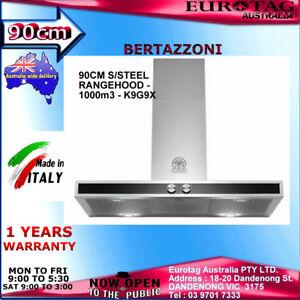 BERTAZZONI 90CM S/STEEL RANGEHOOD - 1000m3 -K9G9X RRP$1,499.00