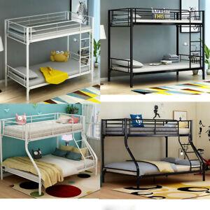 New Single Triple Bunk Beds Metal Frame High Sleeper Children Kids Beds