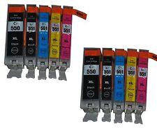 10 Ink Cartridges Canon For PGI550 CLI551 MG5450 MG5550 MG6350 iP7250 MG7150