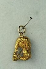 VINTAGE ANTIQUE 24K GOLD NATURAL NUGGET CHARM PENDANT CALIFORNIA GOLD RUSH FOB
