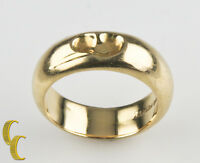 Tiffany & Co. Sterling Silver Vermeil Elsa Peretti Carved Heart Band Ring 4.75