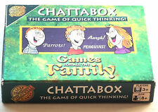 1998 Chattabox Game Cheatwell Games RARE The Game of quick Thinking Vintage